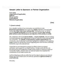 Sponsorship Letter Template 12 Proposal Sample Ffa