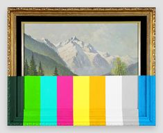 """""""An Alpine Landscape With Color Bars"""" by Chad Wys"""