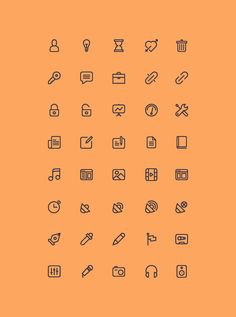 Cicons: 40 Outline Icons | GraphicBurger