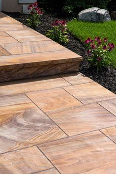 Hello curb appeal! Check out Cambridge Pavingstones steps and walkways to find the perfect one for you. Contractor: KG Action Masonry