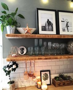 Creative Shelving Ideas for Kitchen - Diy Kitchen Shelving Ideas - . Creative Shelving Ideas for Kitchen - Diy Kitchen Shelving Ideas - .,Cuisine Creative Shelving Ideas for Kitchen - Diy Kitchen Shelving Ideas - Home Decor Natural Shelves, Cocina Diy, Küchen Design, Wall Design, Home Kitchens, Kitchen Remodel, Sweet Home, Home Decor, Kitchen White