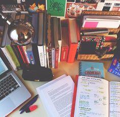 Study desk, notes #studyhard