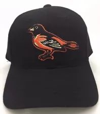 5b4fabb691b Baltimore Orioles Baseball Cap Hat Black Wool MLB Authorized Grossman Cap  Co Orioles Logo