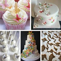 butterfly wedding cakes and sweets