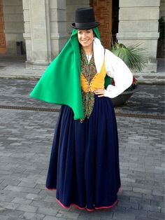 Traditional Costume of Chasna, Canary Islands.