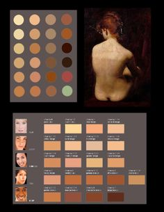 The Limited Palette Workshop: Limited Palette Color Break-downs of the Face and Back. Caroulus Duran and Vermeer. Painting Lessons, Painting Tips, Painting Techniques, Art Lessons, Pencil Portrait, Portrait Art, Drawing Portraits, Drawings, Color Studies