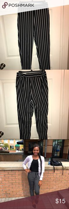 ✨Striped trousers pants✨ It's my favorite! Business casual attire! Make your outfit pop in the workplace. Very J Pants Trousers
