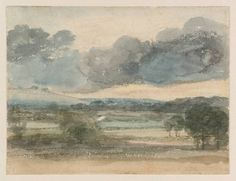 John Constable View over a Valley, Probably Epsom Downs 1806