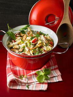 One Pot Pasta mit Pute und Pilzen
