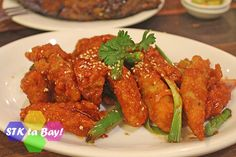 STK ta Bay!'s Sweet and Sour Calamares Freedom Wall, Seafood House, Cebu, Tandoori Chicken, Chicken Wings, Dining, Sweet, Ethnic Recipes, Candy