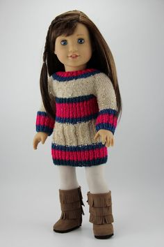 Knitted Dress for AG Doll by DolliciousClothes