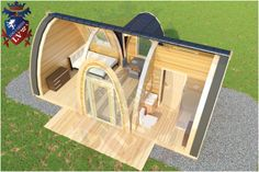 New Glamping pods for sale with rooms to fit out with basics or like a hotel room with bathroom and kitchenette