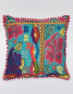 Embroidered Cushion   M&S