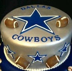 Dallas Cowboys Birthday Cake, Cowboy Birthday Cakes, Dallas Cowboys Party, Cowboy Cakes, Football Birthday, Cowboys Football, Dallas Football, Cake Birthday, Pittsburgh Steelers
