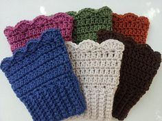 Crochet Boot Cuffs by Michele Gaylor, can already see a ton of ways to modify the top for different looks