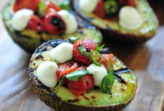 Grilled Avocados Filled with Blistered Tomato Salsa | Kalamazoo Outdoor Gourmet
