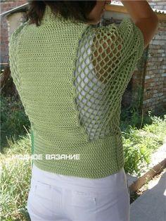 Болеро на пуговицах крючком - Crochet Modnoe Vyazanie