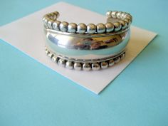 SALE....Taxco Heavy Sterling Silver Beaded by sparklinglotusdesign, $98.00