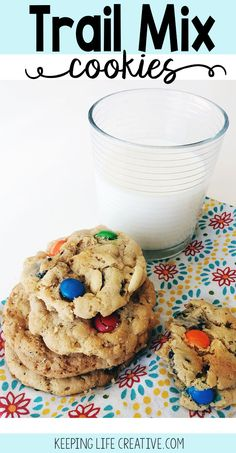 Trail Mix Cookies are fun twist on the classic munchie mix, and are easy to pack for a snack during a nature walk or hike! Make some for your next adventure!