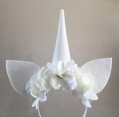 White Unicorn horn unicorn headband unicorn by Reallifefairytales