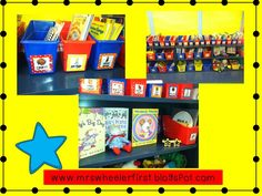 Mrs. Wheeler's First Grade Tidbits: Colorful classroom library