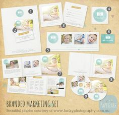 $38 Photography Marketing Set - Branded Logo Set for Print - LG006 - INSTANT DOWNLOAD