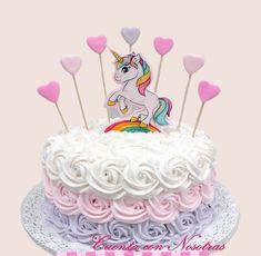 Unicorn Birthday, Unicorn Party, Birthday Cake, Bolo Panda, Torta Baby Shower, Unicorn Foods, Baby Shawer, Ideas Para Fiestas, No Bake Cake