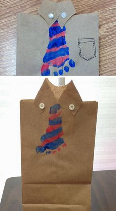 'Tie'riffic Footprint Craft | DIY Birthday Gifts for Dad from Kids that will melt his heart!