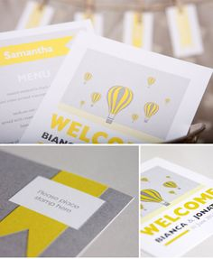 Customisable Brights by Seven Swans Wedding Stationery