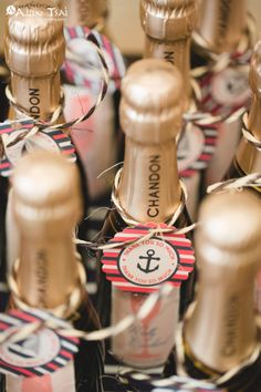 Thank You Favor | Mini Champagne Bottles | Anchor