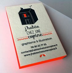 graphic design and illustration business cards Business Cards Layout, Letterpress Business Cards, Cool Business Cards, Letterpress Printing, Business Card Design, Creative Business, Web Design, Graphic Design, Print Packaging
