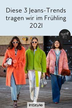 Wir lieben Denim – besonders im Frühling! Welche drei Jeans-Trends wir im Frühling 2021 rauf und runter tragen, erfahrt ihr hier. #instyle #instylegermany #jeanstrend #denim #frühling
