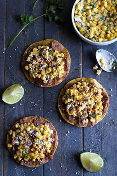 Ready in only 15 minutes, these Mexican Street Corn Tostadas make for an easy lunch or quick dinner that's also gluten free and vegetarian.