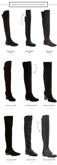 cute over-the-knee boots for fall: