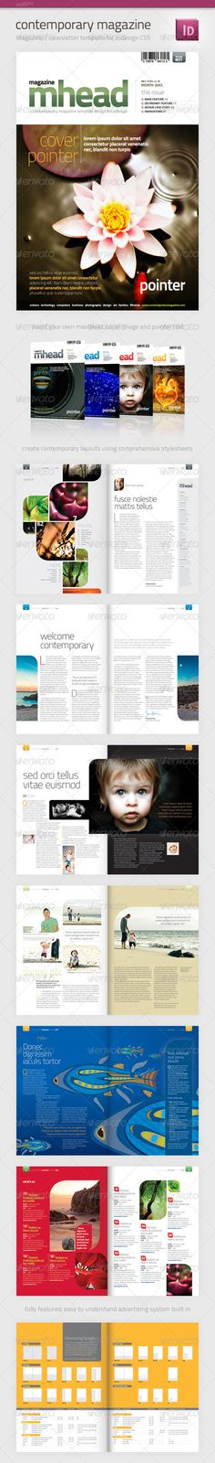 Inspiration Hut - 21 Of The Best Premium Magazine / Brochure Layout Downloads - Inspiration