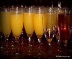 You have several mimosa selection in the Crown Room for Sunday brunch, the traditional orange juice or pomegranate style.
