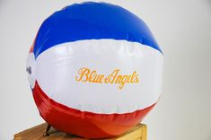 """BLUE ANGELS BEACH BALL Have a little FUN in the SUN with this Red, White, & Blue BLUE ANGELS beach ball! 16"""" Inflatable Beach Ball with """"Blue Angels"""" in script Us Navy Blue Angels, Beach Ball, Script, Party Ideas, Sun, Script Typeface, Scripts, Ideas Party, Solar"""