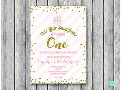 Winter Onederland invitation Winter Invitations by BrideandBows