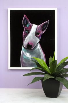 Create this project with Americana® Acrylics — Make a modern black velvet painting of your pooch with Americana Acrylics! White Paint Pen, Black And White Painting, White Paints, Velvet Painting, Paint Pens, Blue Accents, Dog Portraits, Black Velvet, Acrylics