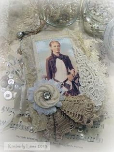 ArtJoyStuff: Fabric And Lace Journal by annette