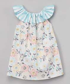 Look at this Caught Ya Lookin' Blue Priscilla Dress - Infant & Toddler on #zulily today!