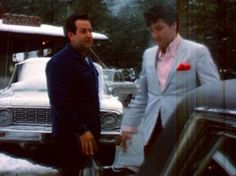Joe and Elvis in California - looks like the attire he was wearing on the eve of his and Priscilla's wedding.