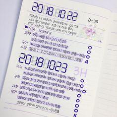 """몽몽 (16) 🎗 on Instagram: """"🌿2018년 10월 22, 23일 스터디플래너 - - 네 저는 위너 입덕... 곧 할 예정인듯.. 김진우에 치여서 삽니다... 어쩌지.. 나 이거 지금 입덕한건지 아닌지 혼란.. 입덕 부정기인것 같아... 위너...... 하아 - - #중3공스타그램…"""" Korean Handwriting, Cute Journals, Study Planner, Cute School Supplies, Some Quotes, Planner Organization, Study Notes, Study Motivation, Journal Inspiration"""