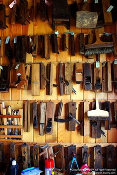 Tools used by Mr. Shim (Chungwonsan-bang), traditional window maker