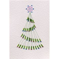 Bead Tree | Christmas patterns at Stitching Cards.