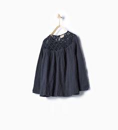 Blusa comprida croché - Ver Tudo - T - shirts - Rapariga - - CRIANÇAS | ZARA Portugal