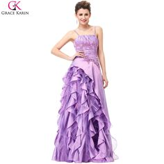 572ab0033fcfc Grace Karin Purple Prom Dresses Sequin Taffeta Voile Spaghetti Straps  Elegant Gowns Long Formal Dresses Wedding Party Dress Prom-in Prom Dresses  from ...