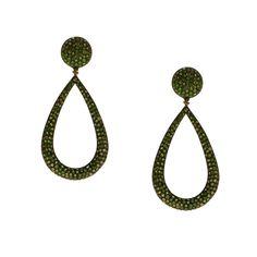 Gold K18 Diamonds Tsavorite Diamonds, Drop Earrings, Gold, Jewelry, Jewlery, Jewerly, Schmuck, Drop Earring, Jewels