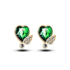 handmade jewelry wholesale online store 2014 fashion diamond earrings angle's wing