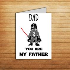 Star Wars Father's Day gift #starwars #father #day #card #dad #youaremyfather #darthvader #instant #download #gift #printable